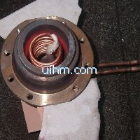 induction heating inner bore of auto part by 120KW induction heater (UM-120AB-RF)