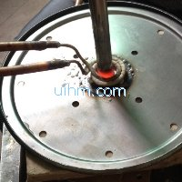 ultra-high frequency induction brazing stainless pipe and plate