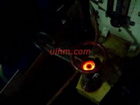 induction hardening hammer by 40KW induction heater (UM-40AB-HF)