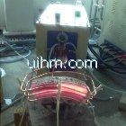 induction heating cambered work-piece by 160KW power supply