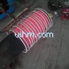 induction heating end of pipeline by 160kw induction heater
