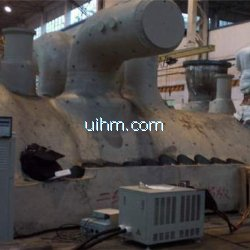 induction preheating and heat treatment after welding for 600MW turbine