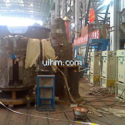 induction preheating and heat treatment after welding for 600MW turbine by UM-DSP air cooled machines at same time