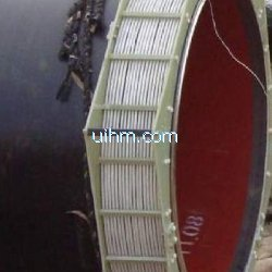 induction preheating steel pipeline