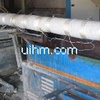 induction heating roller of drawing machine by air cooled induction coil