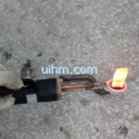 handheld induction coil for brazing steel plates