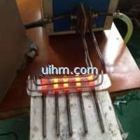 induction forging 5 bolts ends by l shape induction coil