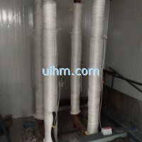 induction heating pipelines by full air cooled induction heaters
