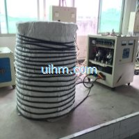 induction heating steel pipe by flexible water cooled induction coil