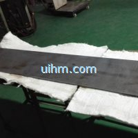 induction heating steel plate for cooking by 15KW air cooled induction heater