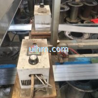 induction heating steel strip online by air cooled induction heater