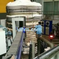 induction preheating hydroturbine shaft by full air cooled dsp induction heater (2)