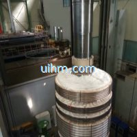 induction preheating hydroturbine shaft by full air cooled DSP induction heater