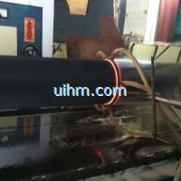 induction quenching large steep pipe by 500KW RF induction heater (1)