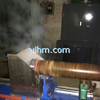 induction quenching large steep pipe by 500KW RF induction heater (2)