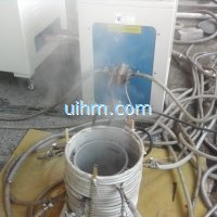 induction shrink fitting aluminum motor frames to 350 celsius degree in 50 seconds by 60KW machine