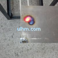 induction tempering titanium plate with moving handheld induction coil