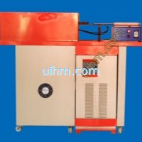 um-80ab-mf induction heating machine with auto feed system for forging work