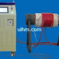customized 100KW full air cooled induction heater with flexible induction coil for pipeline preheati