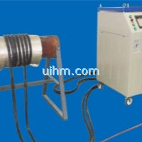 customized 80KW full air cooled induction heater with flexible induction coil for pipeline preheatin