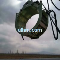 customized dsp full air cooled clamp coil for preheating gas pipeline