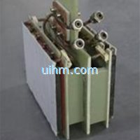 induction coil for heating double face of graphite moulds