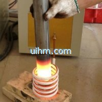 induction forming steel rod ends