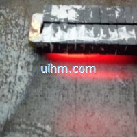 induction hardening surface of steel plate