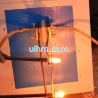 induction heating bolts ends by multi heads induction coil