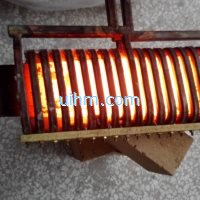 induction heating spring leaf by 120kw induction heaters
