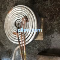 induction heating steel plate by pancake induction coil