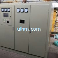 UM-SCR1000KW-MF induction power supply with 1000kg tilting furnace (2)