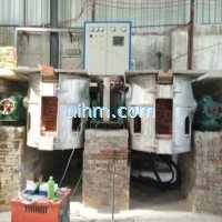 tilting furnace for mf scr induction heaters