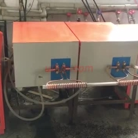 induction annealing steel wire online by 2 induction heaters at same time