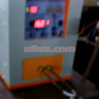 induction heating steel rod by uhf induction heater