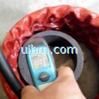 induction shrink fitting coupling hub for oil pipes project by water cooled flexible induction coil
