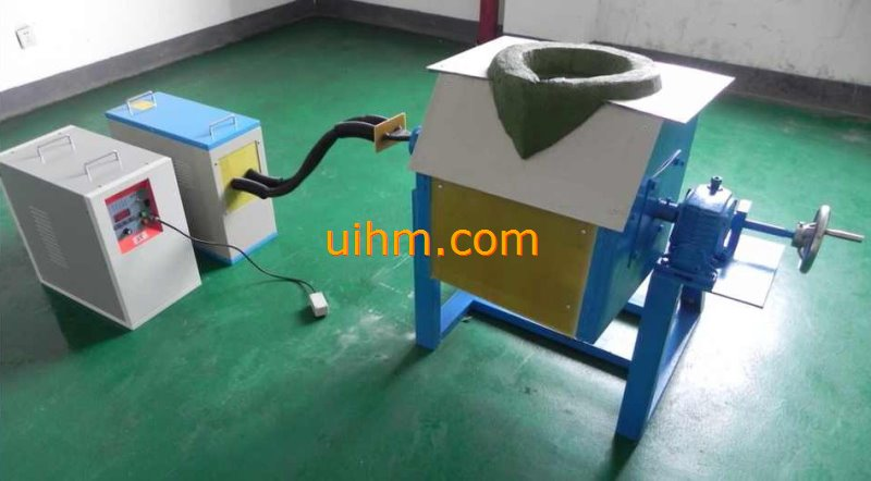 60KW tilting induction melting furnace