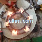 induction brazing by customized coil