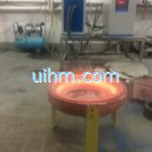 induction melting with titanium alloy pot by customized induction coil