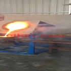 tilting furnace for induction melting gold by 80KW MF machine (3)