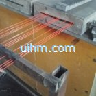 induction annealing 1mm to 2mm steel wire online by 200KW MF induction heater