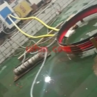induction tempering steel ring with flexible connection cable