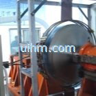 heating source simulation by 100kw induction heater with solid induction coil