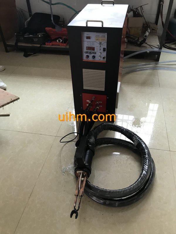 induction brazing SS steel by handheld induction coil (1)